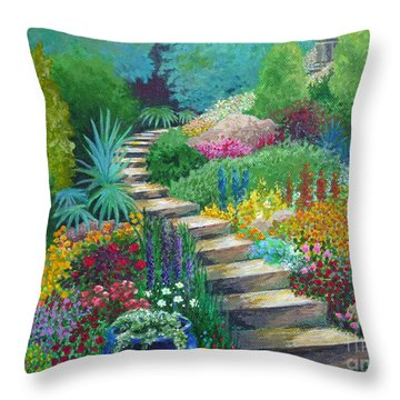 The Peaceful Path Throw Pillow