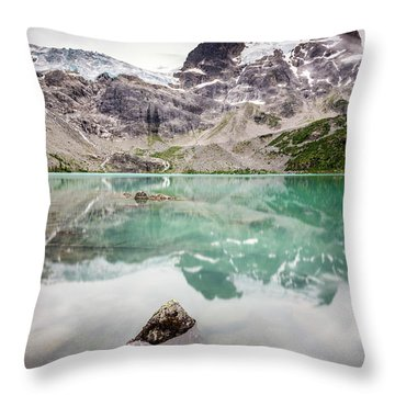 Throw Pillow featuring the photograph The Peak In A Turquoise Lake by Pierre Leclerc Photography