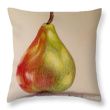 The Pear Throw Pillow