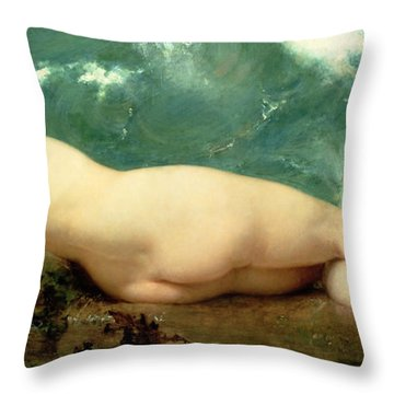 The Pearl And The Wave Throw Pillow by Paul Baudry