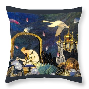 The Pearl Of Great Price Throw Pillow