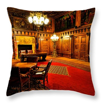 The Pennsylvania Governor Office Throw Pillow by Olivier Le Queinec