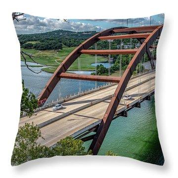 The Pennybacker Bridge Throw Pillow