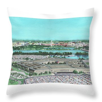 The Pentagon Throw Pillow