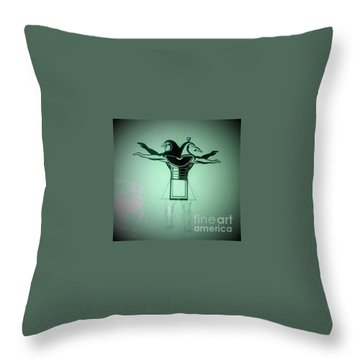 The Perfect Circling Of Your Square Throw Pillow