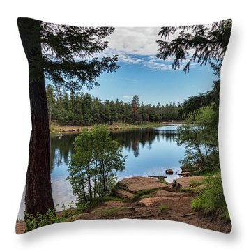 Throw Pillow featuring the photograph The Perfect Fishing Spot  by Saija Lehtonen