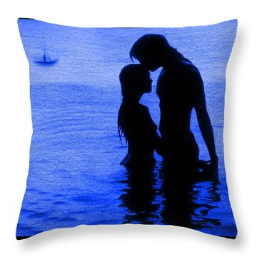 The Perfect Getaway Blue Throw Pillow