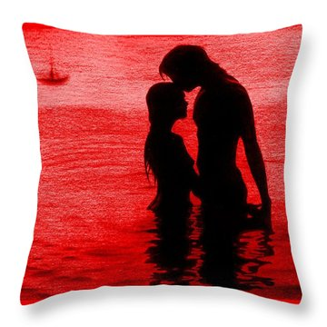 The Perfect Getaway Coral Throw Pillow