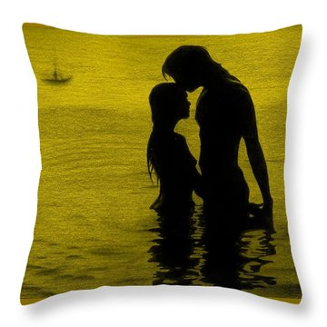 The Perfect Getaway Gold Throw Pillow