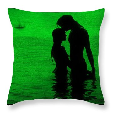 The Perfect Getaway Green Throw Pillow