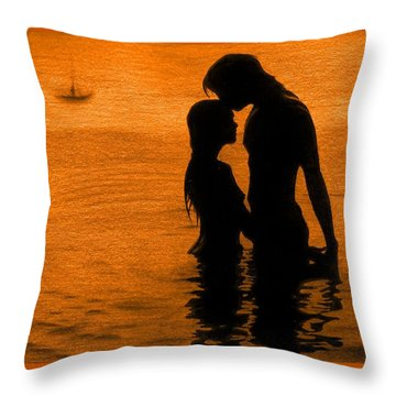 The Perfect Getaway Orange Throw Pillow