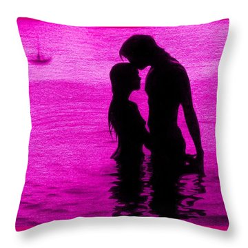 The Perfect Getaway Pink Throw Pillow