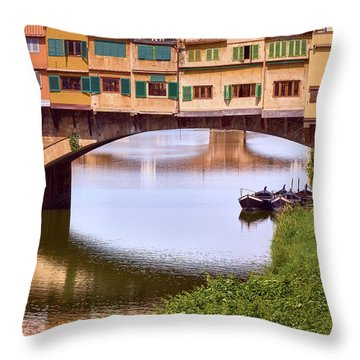 The Perfect Place To Park Your Boat Throw Pillow