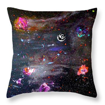 Throw Pillow featuring the painting The Perfect Storm by Michael Lucarelli