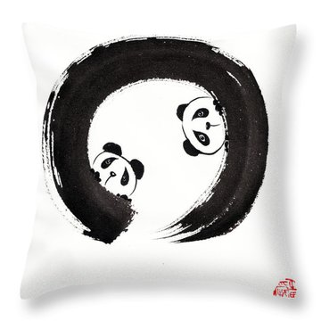 The Perfectly Imperfect Pair Throw Pillow by Oiyee At Oystudio