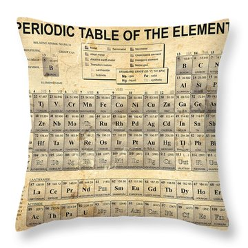 The Periodic Table Throw Pillow