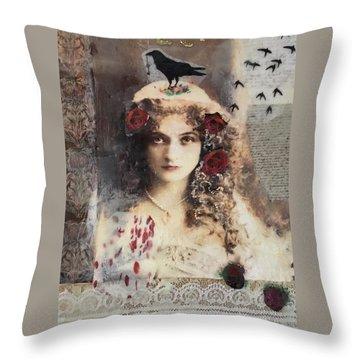 The Pet Crow Throw Pillow