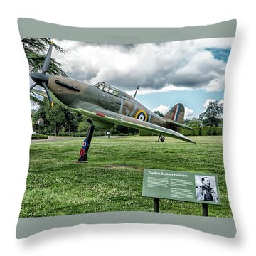 Throw Pillow featuring the photograph The Pete Brothers Hurricane by Alan Toepfer