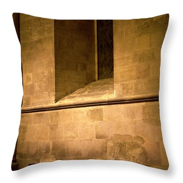 Throw Pillow featuring the photograph The Pew by Lorraine Devon Wilke