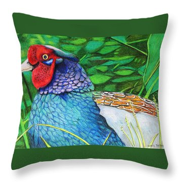The Phesant King Throw Pillow by Tim Ernst