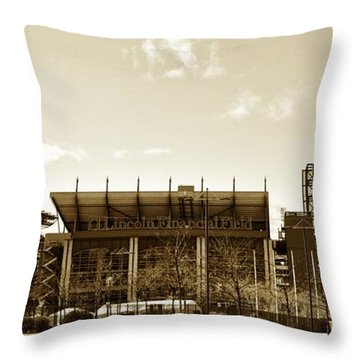 The Philadelphia Eagles - Lincoln Financial Field Throw Pillow by Bill Cannon