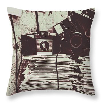 The Photo Room Throw Pillow