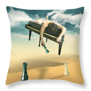 The Pianist  Throw Pillow by Mark Ashkenazi
