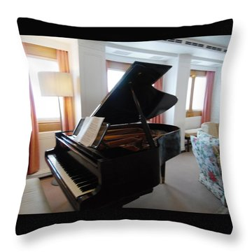 The Piano On Board The Royal Yacht Britannia Throw Pillow