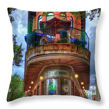 Throw Pillow featuring the photograph The Pickle Barrel Chattanooga Tn Art by Reid Callaway