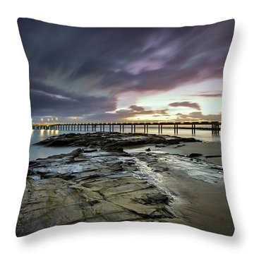 The Pier @ Lorne Throw Pillow by Mark Lucey