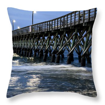 The Pier At The Break Of Dawn Throw Pillow