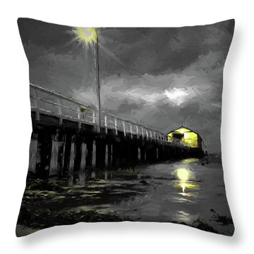 The Pier On The Bay Throw Pillow