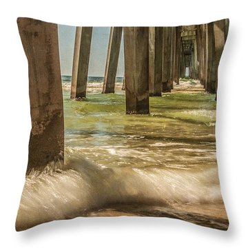 The Pier Throw Pillow by Phillip Burrow