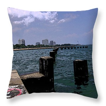 Throw Pillow featuring the photograph The Pier by Skyler Tipton