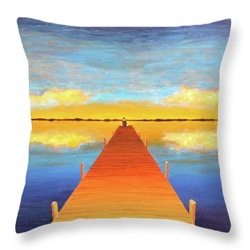 The Pier Throw Pillow