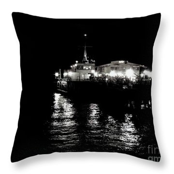Throw Pillow featuring the photograph The Pier by Vanessa Palomino