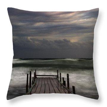 The Pier...ayia Napa Throw Pillow by Stelios Kleanthous