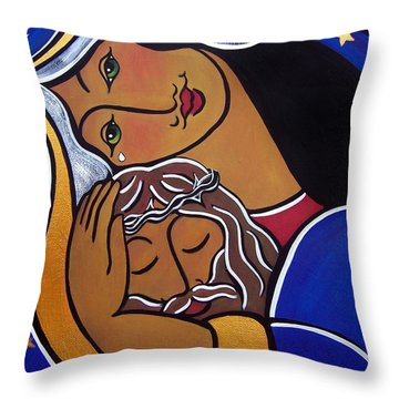 The Pieta Throw Pillow