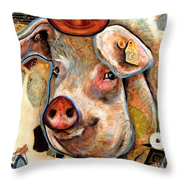 The Pig Throw Pillow