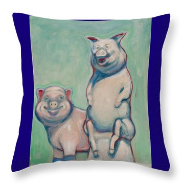 The Pigs Throw Pillow