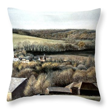 The Pilgrims Way Throw Pillow