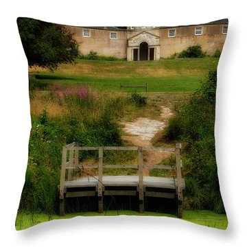 Throw Pillow featuring the photograph The Pineapple House by Jeremy Lavender Photography
