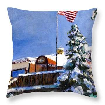 The Pines Throw Pillow by Randy Sprout