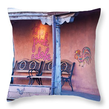 The Pink Adobe Throw Pillow