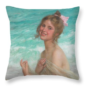 The Pink Bow Throw Pillow