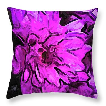 The Pink Flower With The Lavender Edges Throw Pillow