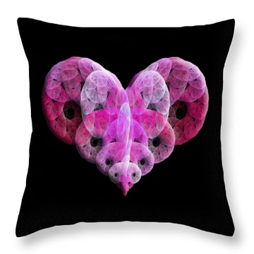 The Pink Heart Throw Pillow by Andee Design