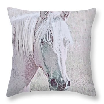 Throw Pillow featuring the photograph The Pink Horse by Jennie Marie Schell