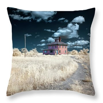 The Pink House In Halespectrum 1 Throw Pillow