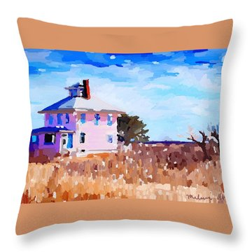 The Pink House, Newburyport, Ma. Throw Pillow